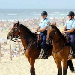 Illustration : Des gendarmes à cheval sur nos plages cet été