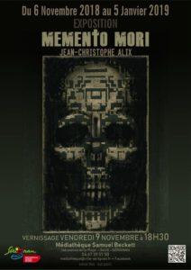 Exposition memento mori de JC Alix @ Médiathèque Samuel Beckett