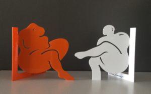 Exposition Silhouette du volume à l'épure Agnès Descamps @ Médiathèque Samuel Beckett
