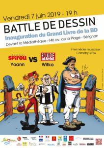 Battle De Dessin Inauguration Du Grand Livre De La Bd