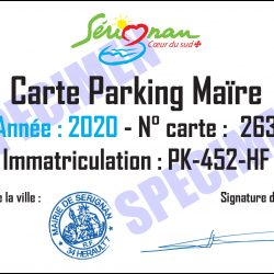 Illustration : Carte résident parking de la Maïre