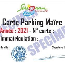 Illustration : Carte de stationnement Parking de la Maïre